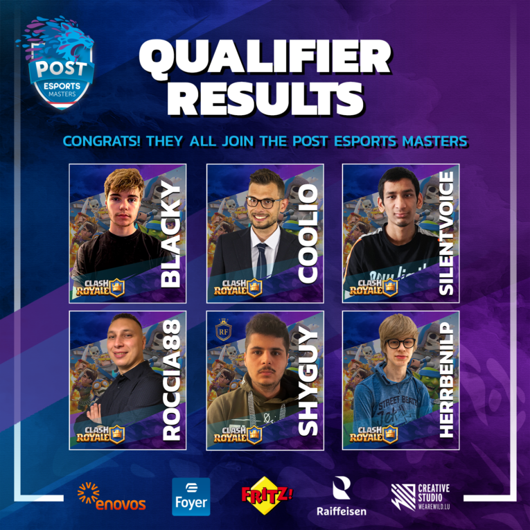 Qualified players to the POST Esports Masters